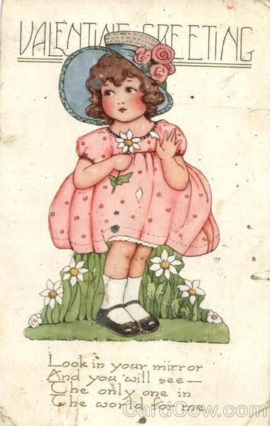 Valentine Greeting - Little Girl