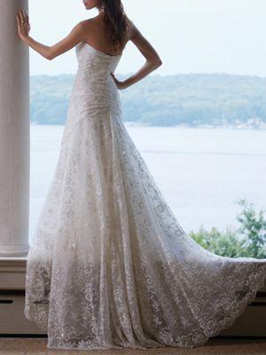 Strapless wedding dress back