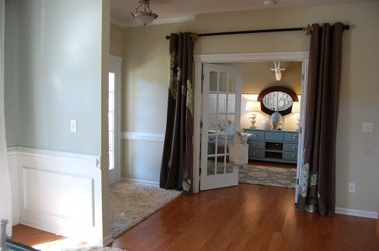 paint colors--sherwin williams rice grain and comfort gray