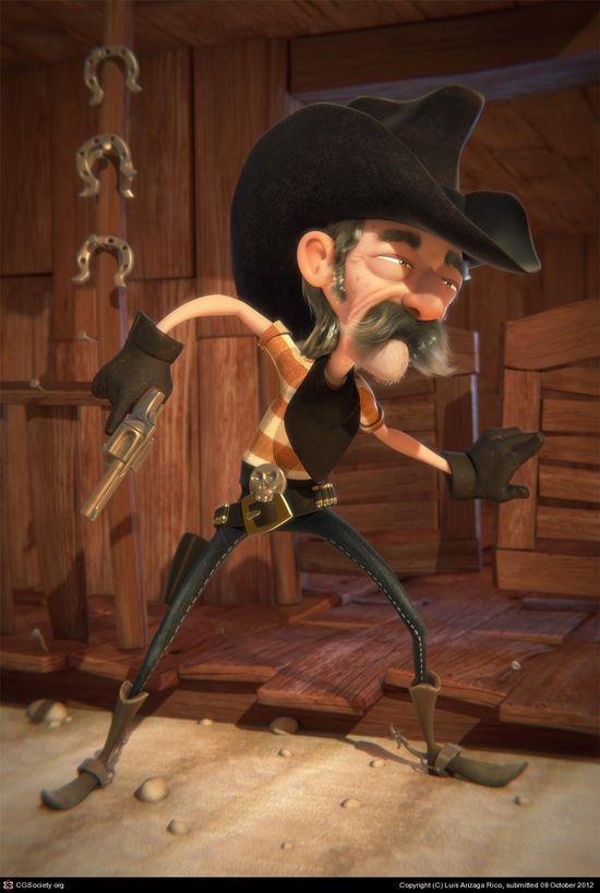 Cowboy toon, Luis Arizaga Rico (3D)