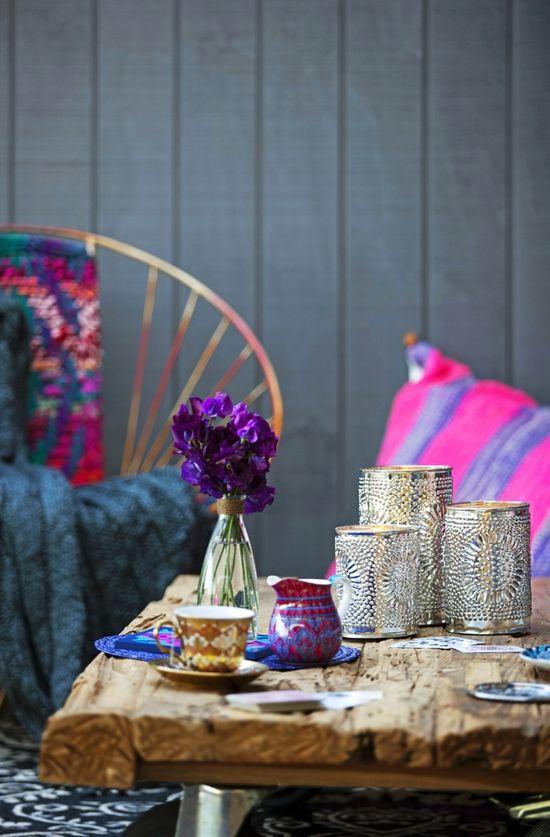 decor bohemian color pattern