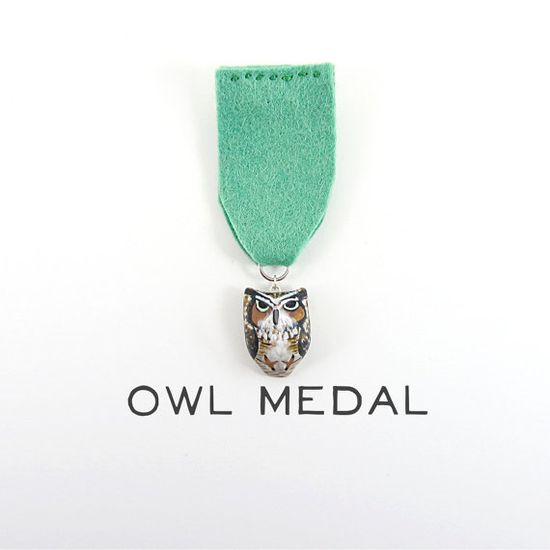 {owl medal} by HandyMaiden