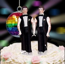Dashing gents to top the cake! #GayWedding #TipiWedding