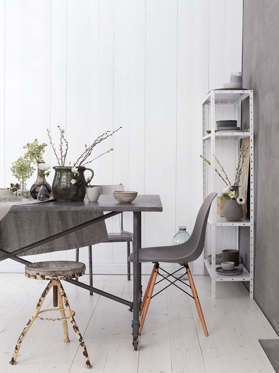 inspirations in warm grey #dinning #chair #wall