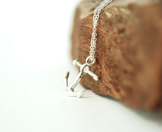 Heleuma necklace - silver anchor necklace, www.kealohajewelr... , maui, hawaii