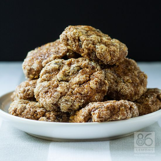 Pumpkin Oatmeal Cookies #vegan #glutenfree