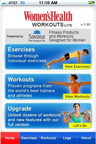 Free Women's Health Workout App! {iPhone}