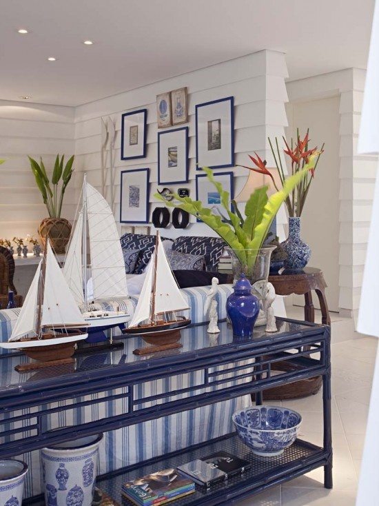 Bamboo Furniture painted navy