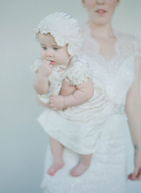 lovely bonnet & baby outfit
