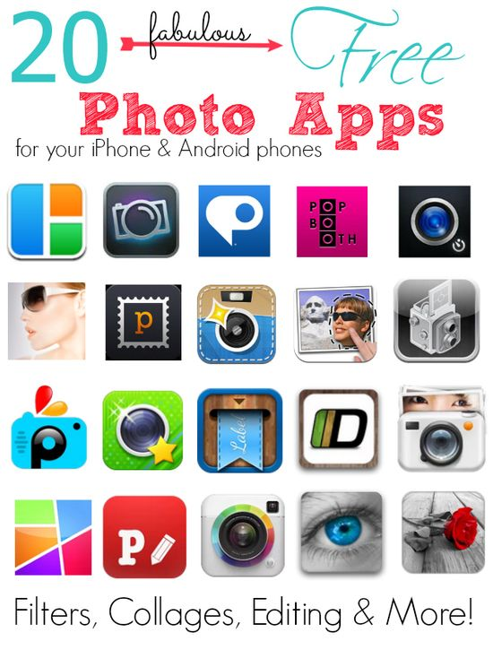 20 FREE Android & iPhone Photo Apps you can download on your phone!