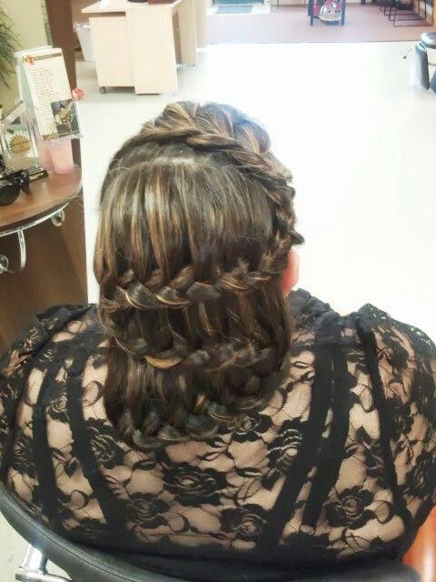 Waterfall braid #hair #braiding @dimensionssalonandspa