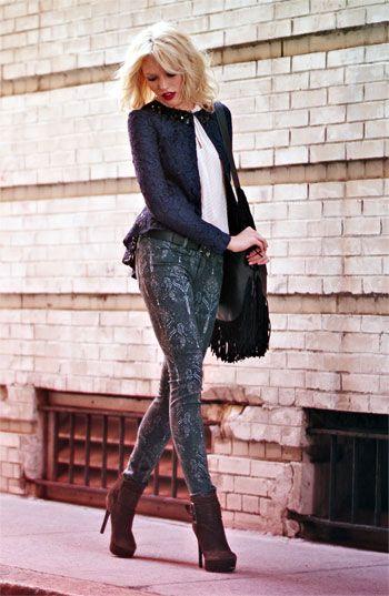 Heed Jacket, Ella Moss Blouse & Joe's Jeans #Nordstrom #FallTrend