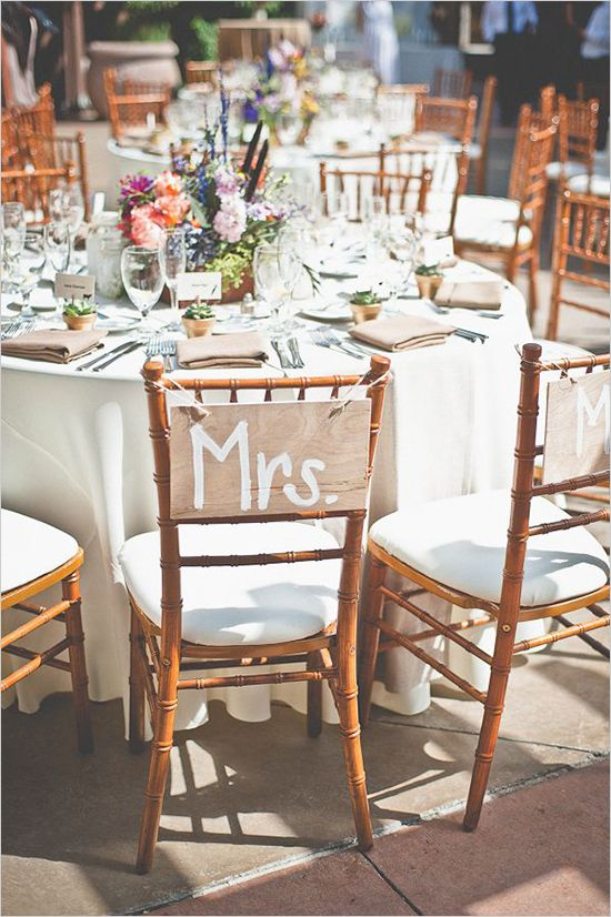 Mr and Mrs Signs at the head table.