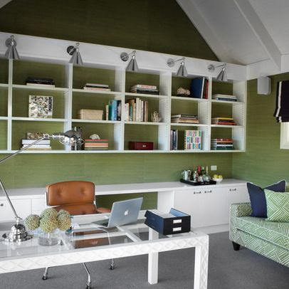 Home Office Design Ideas, Pictures, Remodels and Decor LovE the lighting!
