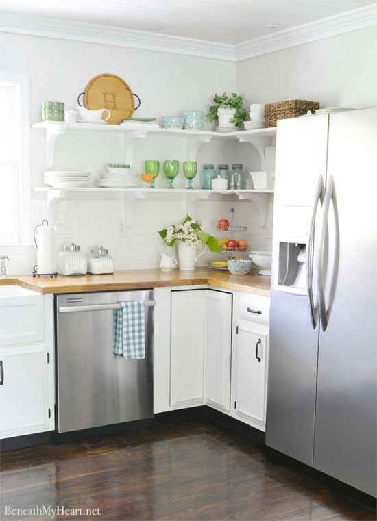 Before and After Pictures of Kitchen Makeover -- Beneath My Heart