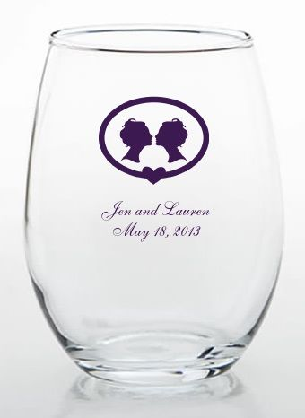 seekbi.com --- #same-sex wedding wine glasses for toasting! #lesbian #wedding