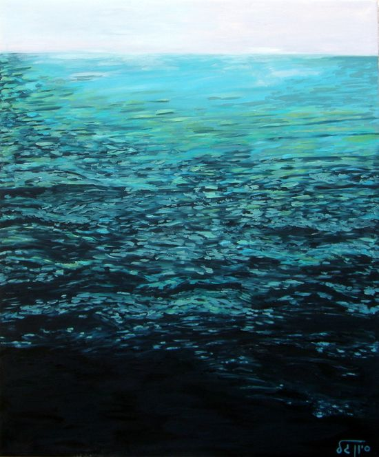 "Saatchi Online Artist: Sivan Gal; Oil, 2011, Painting ""The sea #10"""