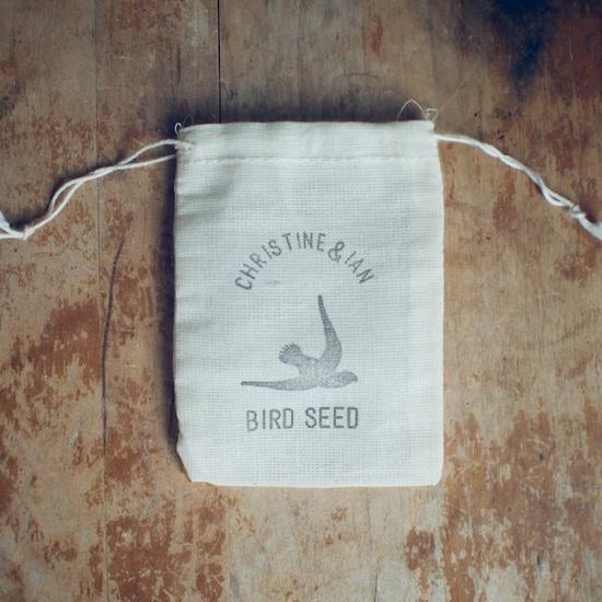 50 Custom Empty Bird Seed Muslin Bag Wedding Ceremony Decor and Favors  (Custom). $50.00, via Etsy.