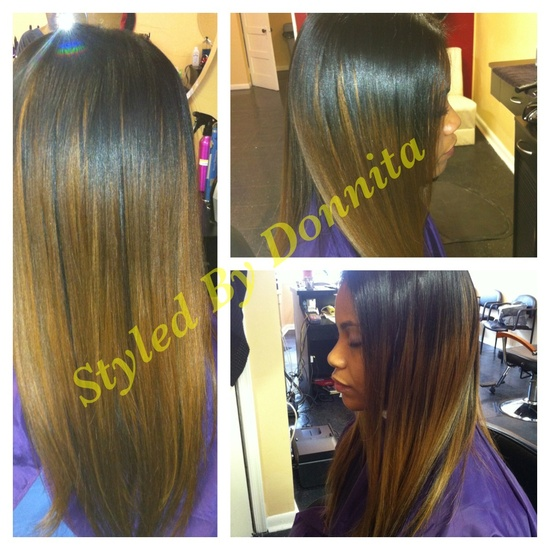 Blended sew in weave 3 extensions added for fullness