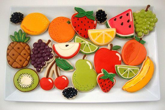 Cookie Fruit Platter