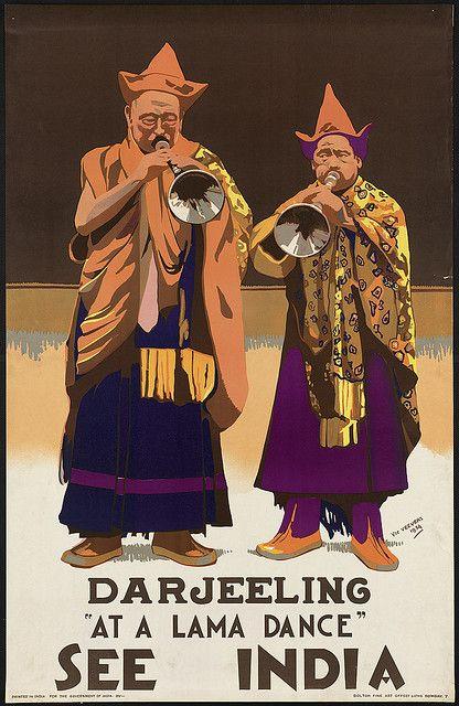 "See India. Darjeeling ""At a lama dance"" by Boston Public Library, via Flickr"