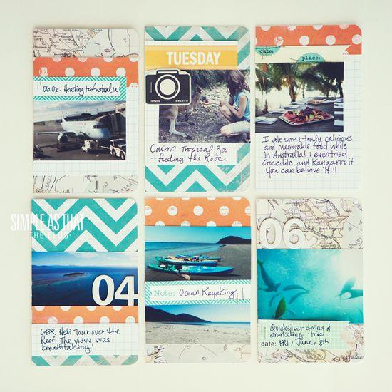 simple as that: DIY Pocket Travel Journal Tutorial
