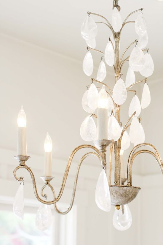 This is a beautiful chandelier to put in your master bathroom! CUTE!