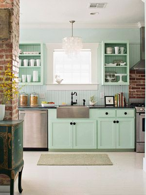 I love the look of this kitchen