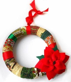 Fabric Wreath • Couronne en tissu www.fabricville.c...
