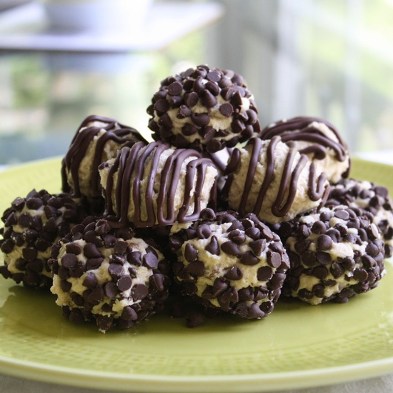 Chocolate Therapy: Chocolate Chip Cookie Dough Bites