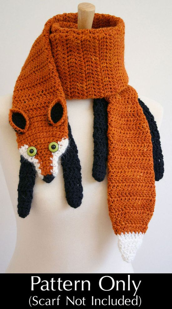 Crochet Fox Scarf. I NEED THIS