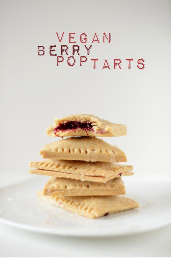 Recipe for Vegan Berry Pop Tarts: minimalistbaker.c... #poptarts #vegan #berry #delish #whatveganseat #food #recipes #yum #omg #veganism