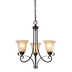 Titan Lighting 3-Light Ceiling Oil Rubbed Bronze Chandelier-TN-50014 at The Home Depot