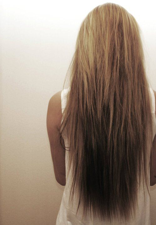 My hair needs to be this long.