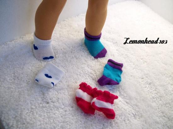3 Pair of Low Socks  for American Girl Dolls by Lemonhead103, 3.00