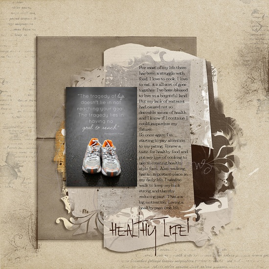 Simple #running #shoes #column #scrapbook #layout