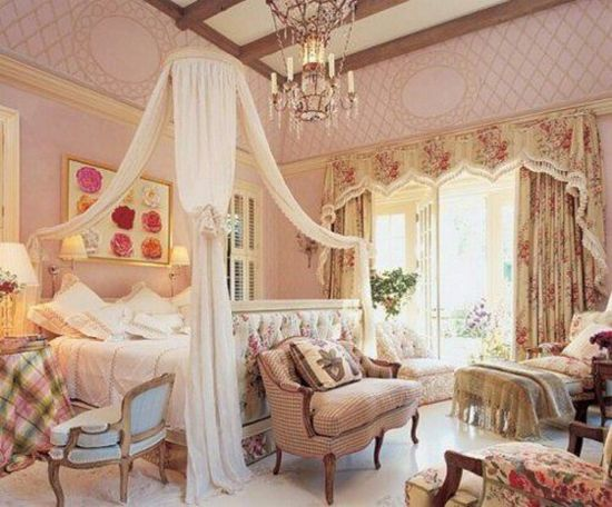 shabby chic bedroom...Love the canopy - ideasforho.me/... -  #home decor #design #home decor ideas #living room #bedroom #kitchen #bathroom #interior ideas