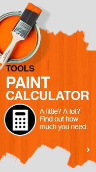 Painting a room? Before you buy, use a calculator to figure out how much paint you need! #paint