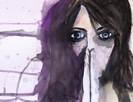 Emotional Mess  Original Watercolor  9x12 by ArtsandClassy on Etsy, $45.00