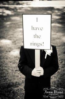 sign for the ring bearer...