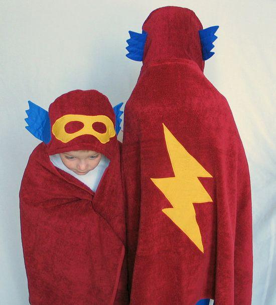 superhero towel for toddlers