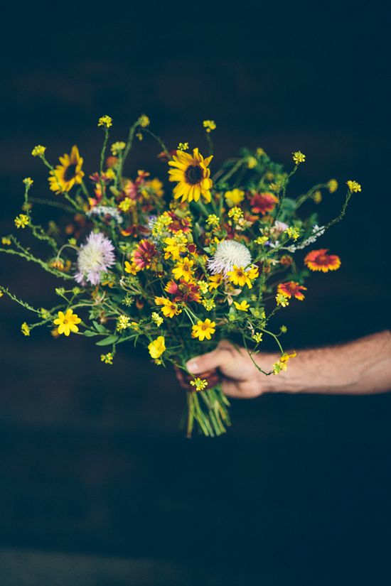 wildflower wedding bouquet // design by Sweet Sunday // photo by Todd White