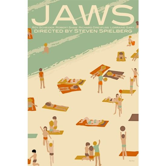 Jaws Illustrated Movie Poster