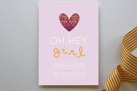 Confetti Love Baby Shower Invitations