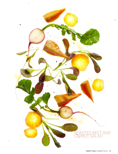 Roasted Beet and Carrot Salad #SweetPaulMag Love this whole series. Couldn't decide between pinning it in Yumminess or Photography