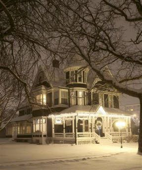 Christmas Victorian home