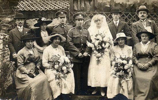 World War I wedding