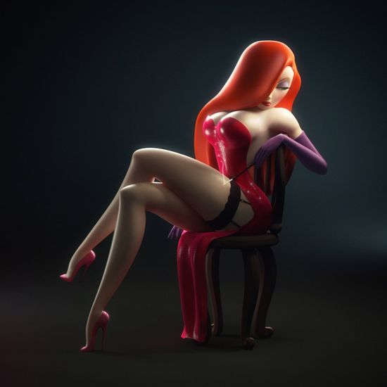 Dick Tracy - Mrs Rabbit #fanart #3d #cgi // pinned by @Patrick Welker