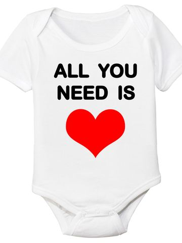 """""""All You Need Is Love"""" Organic Baby Onesie"""