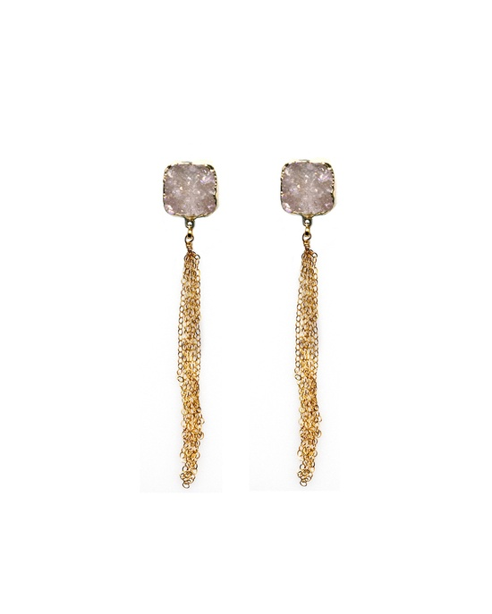 Druzy Chain Earrings
